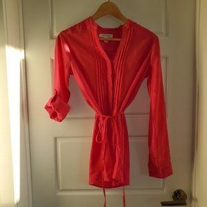 Magazine hot pink blouse size small